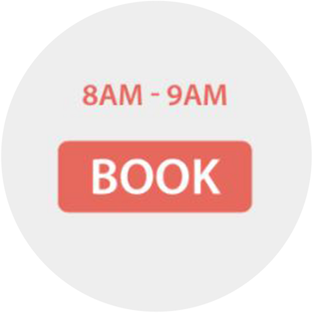 Book your slot with a touch away