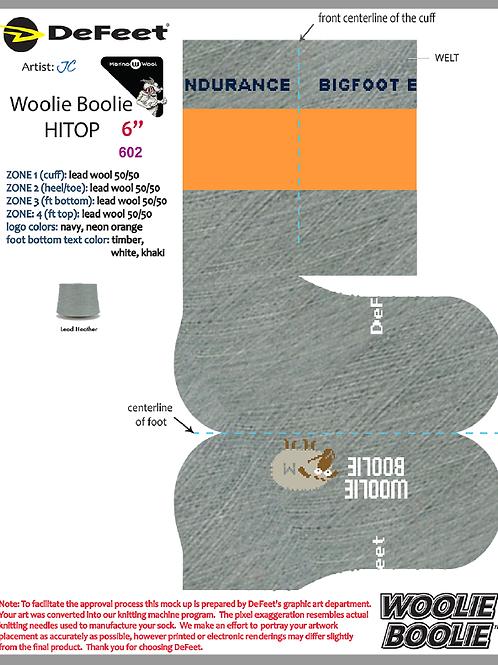 Woolie Boolie Gray w/ Orange Stripe