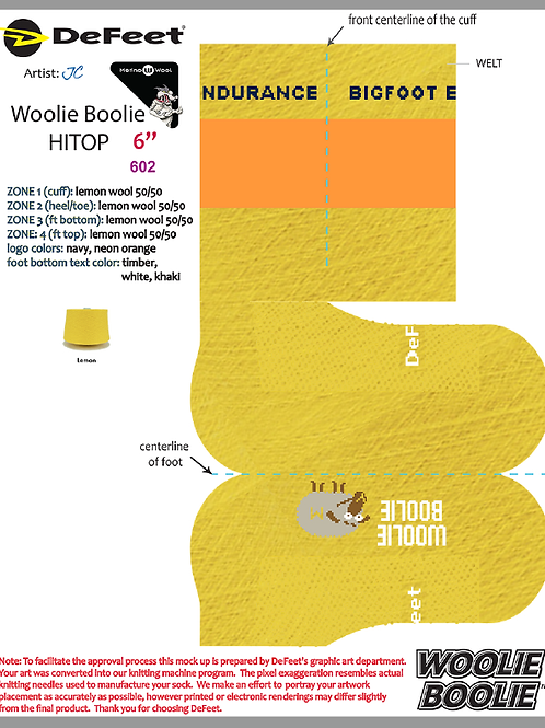 Woolie Boolie Yellow w/ Orange Stripe