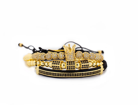 Gold Signature Bracelet Set