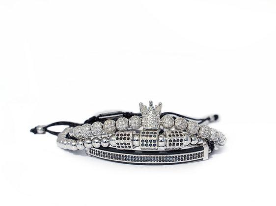 Silver Signature Bracelet Set