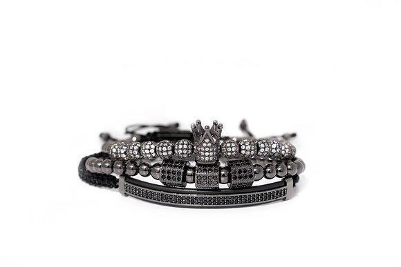 Black Signature Bracelet Set