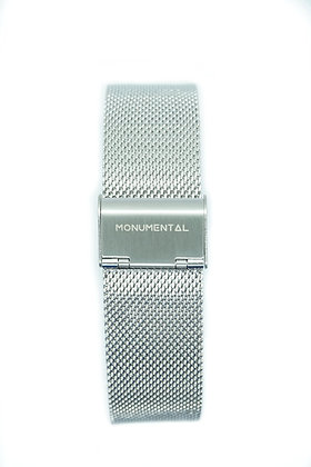 Silver Mesh Stainless Steel Strap