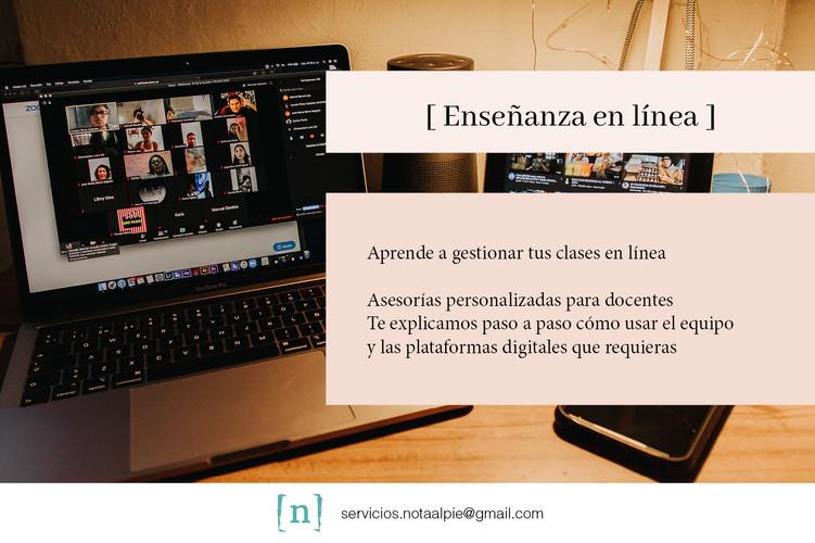 Enseñanza en línea