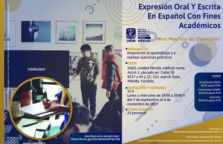 Expresión oral y escrita en español con fines académicos