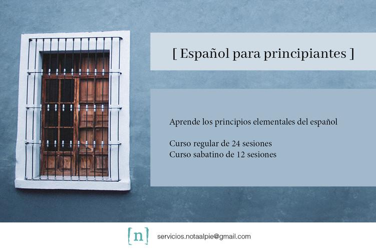 Español para principiantes