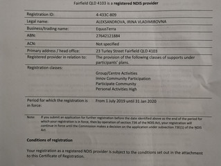 NDIS Registration to January 2020