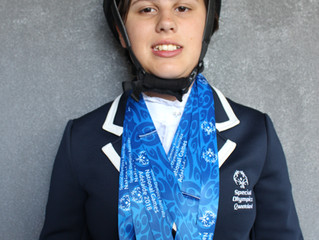 Four gold medals - fantastic results for Willow Hersant at the National Special Olympics Games