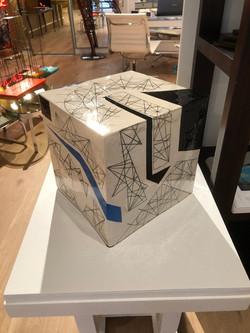 Cube bleu - Luce Gaudin