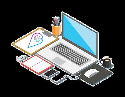 workspace for online marketing