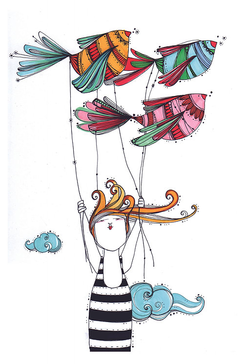 ILUSTRACION Pájaros globo