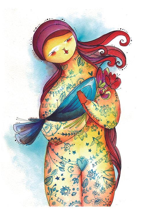 ILUSTRACION La chica de los tattoos