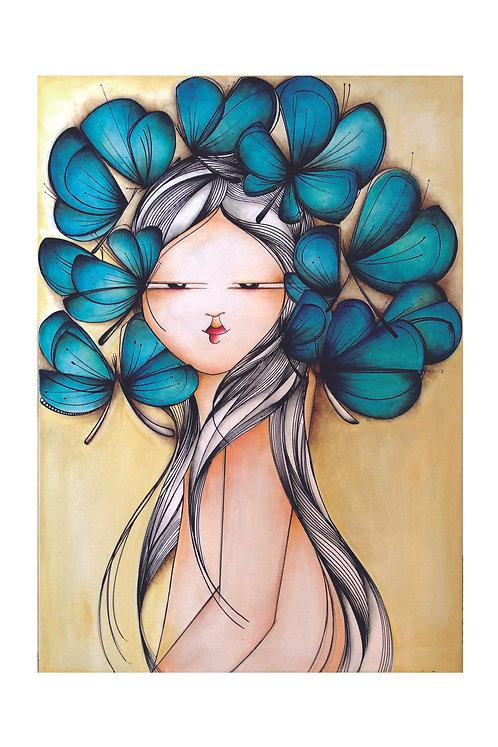 ILUSTRACION Mariposas azules