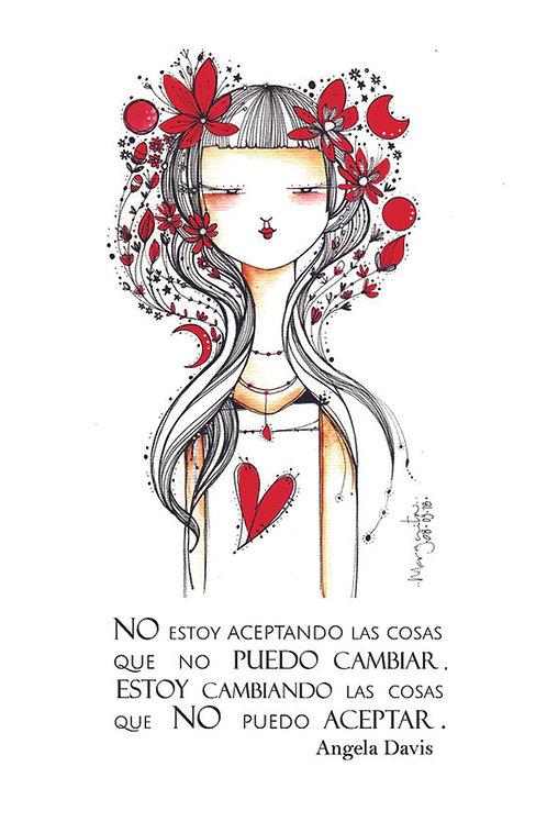 ILUSTRACION Mujer y flores rojas (con texto)