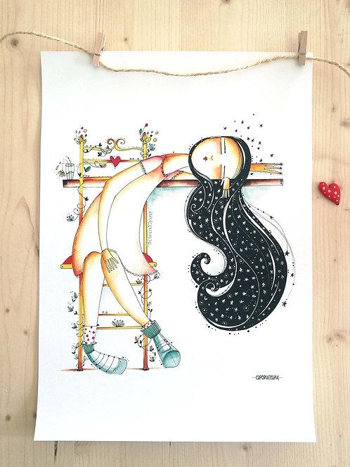 Lámina Ilustrada  La Bella Durmiente