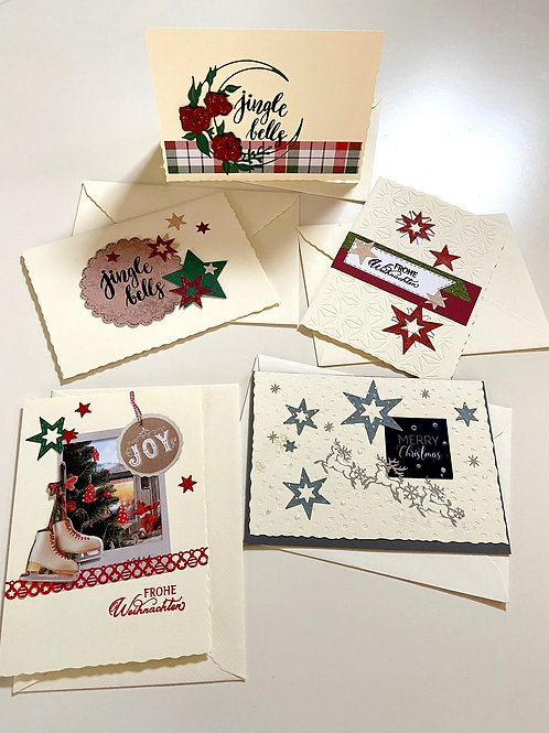 Weihnachtskartenset Elegant