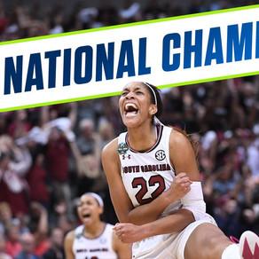 LADY GAMECOCKS. NATIONAL. CHAMPIONS.