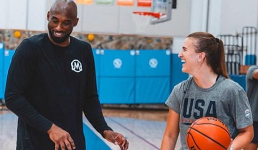 Kobe Bryant and Sabrina Ionescu.