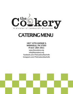 The Cookery's Catering Menu