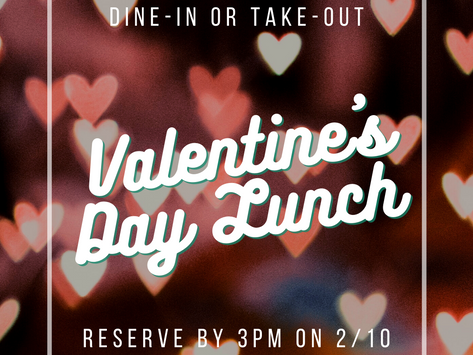 Valentine's Day Lunch for 2