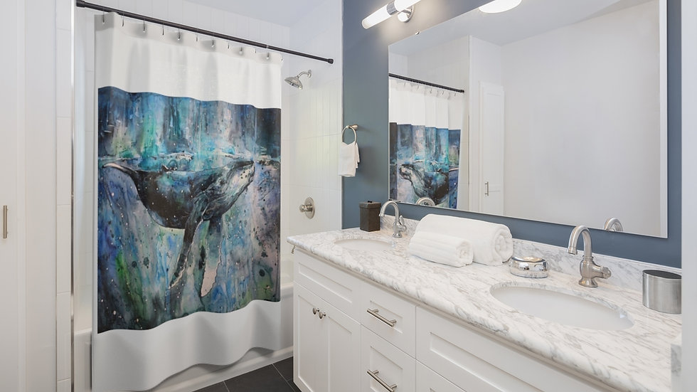 Little Tommy's Whale Shower Curtain