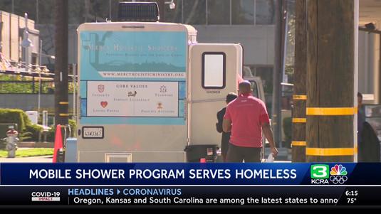 Showers for Homeless  KCRA-NBC3  6pm  Sa