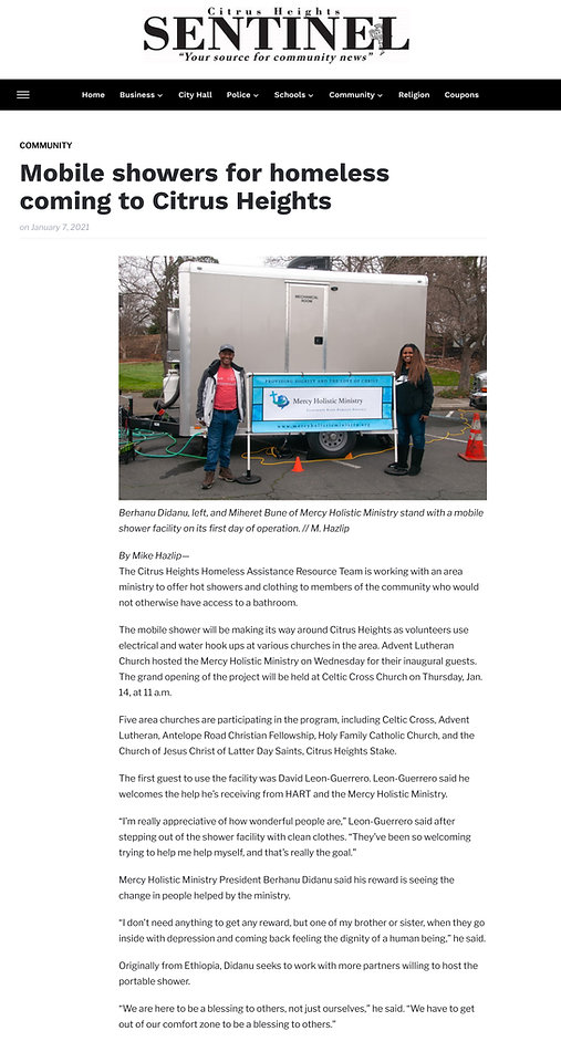 Mobile showers for homeless coming to Ci