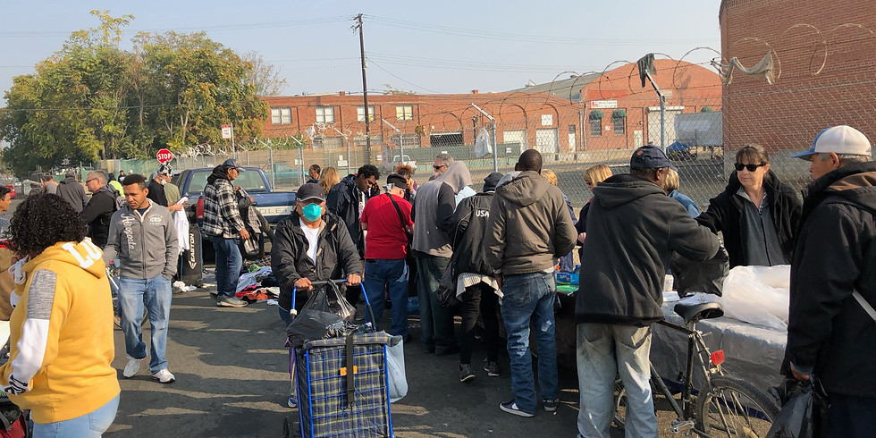 Feeding the homeless in Sacramento