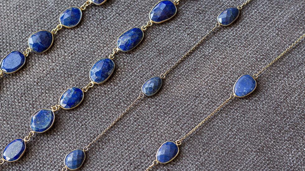 LaGi Lapis silver GP necklace