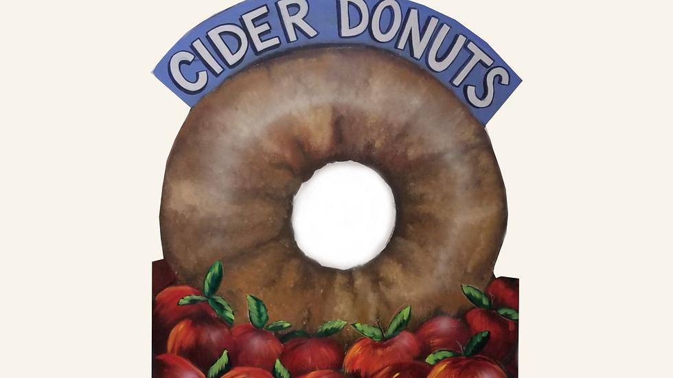 Cider Donut 4 x 4 Cutout Sign