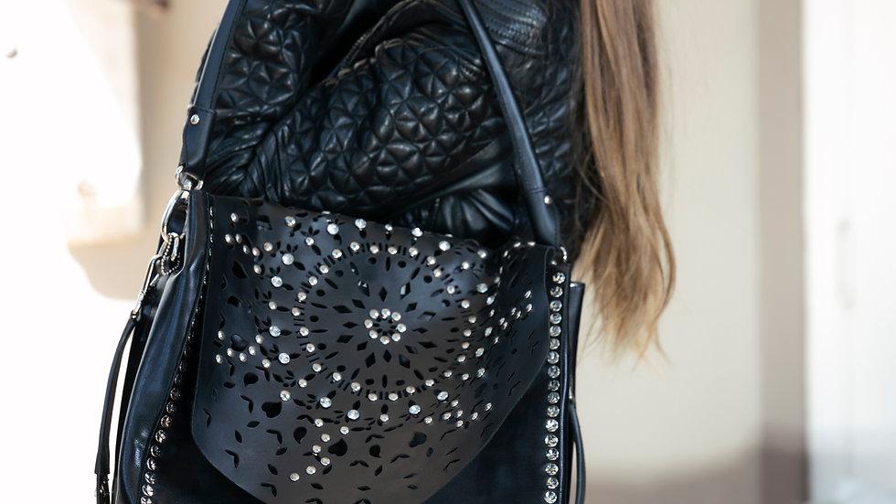Black Stud Handbag