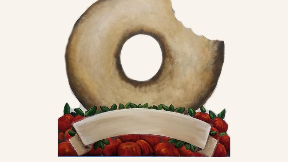 Cider Donut (option 2) 4 x 4 Cutout Sign