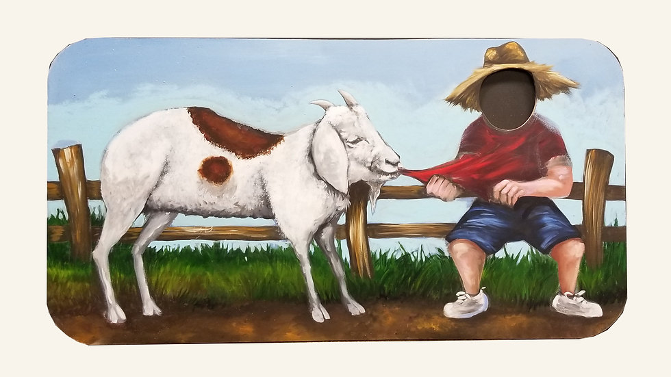 Goat Snack 2 1/2 ft x 4 ft Cutout Sign