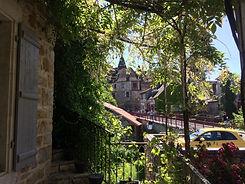 L'étonnante vue sur le village depuis les Terrasses de Carennac