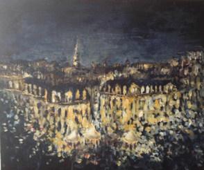 Lumière sur la ville    acrylique sur toile 45x50