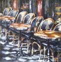 Pause à l'ombre acrylique sur toile 50x50