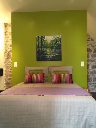 Chambre colorée et douillette à Carennac