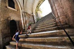 L'escalier monumental de la cité sainte de Rocamadour