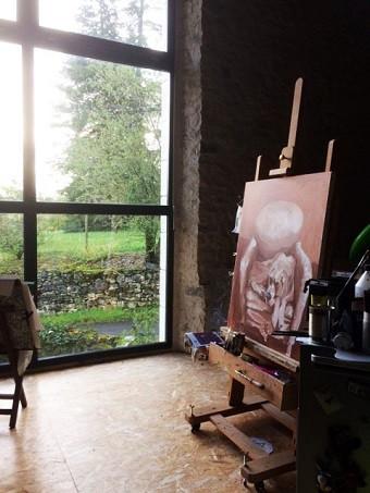 havier sylvie artiste peinture peintures peintre carennac occitanie département du lot floirac