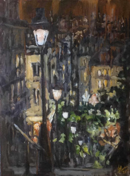 Les lumières des hauteurs   acrylique sur toile 50x70