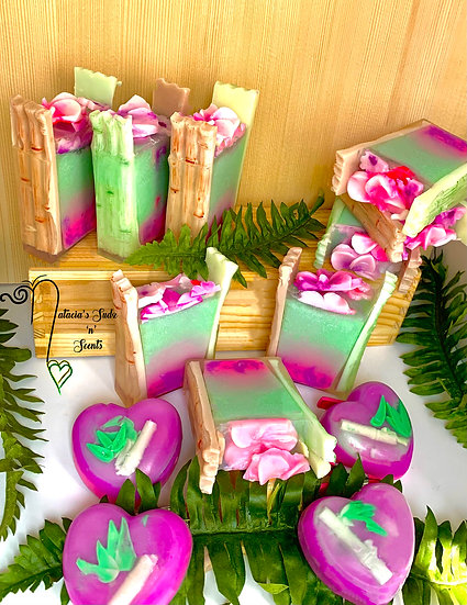 Blushing Bamboo Orchid Soap