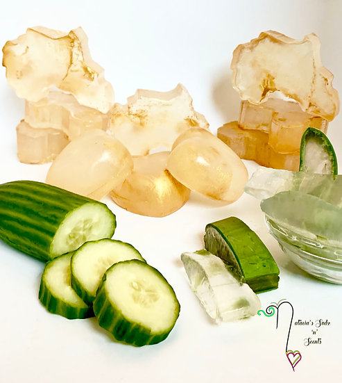 Aloe Vera & Cucumber Soap (Made w/ Aloe Vera, Shea Butter, Avocado & Olive Oil)