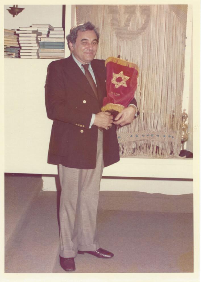 Arthur Weil with the little tattooed Torah.