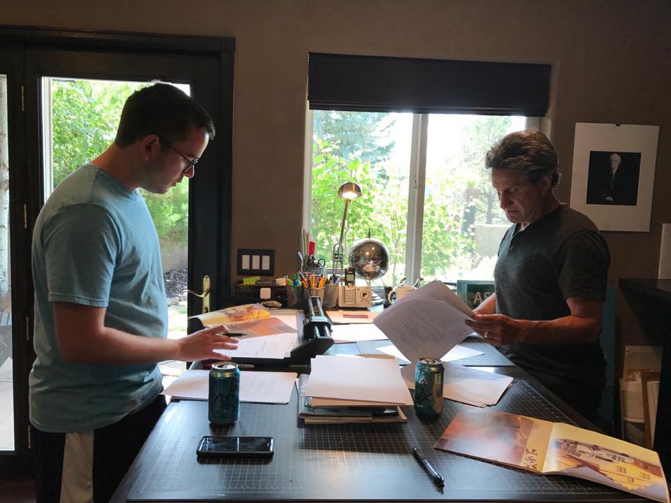 Co-screenwriters Brett Kopin and Marc Bennett.