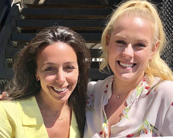 Lisa Effress (producer) and Brittany Horwege (post production producer) at post production and VFX house, 11 Dollar Bill.