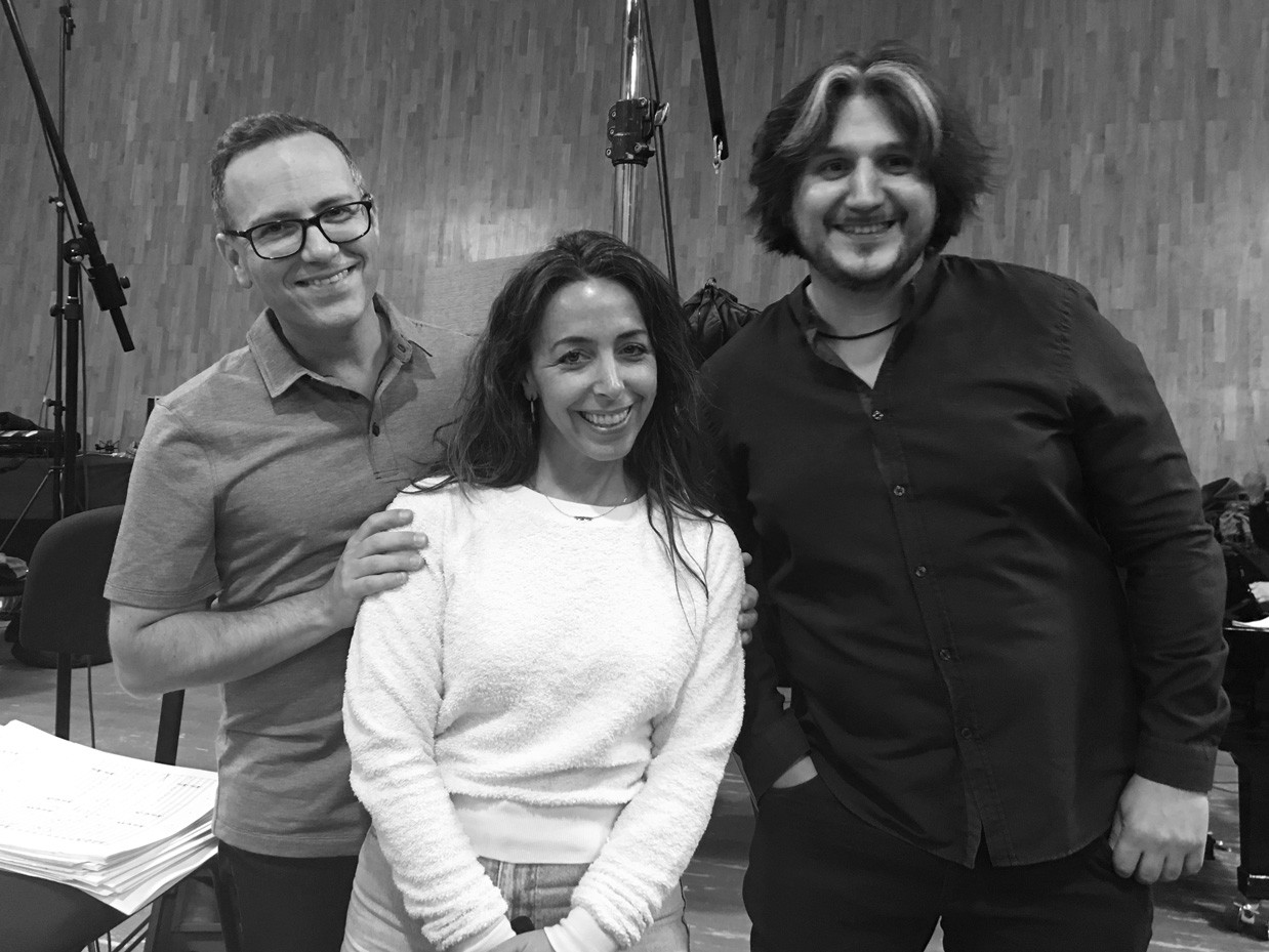 Daniel Alcheh (composer and conductor). Lisa Effress (producer), and Vladimir Podgoretsky (musical director).
