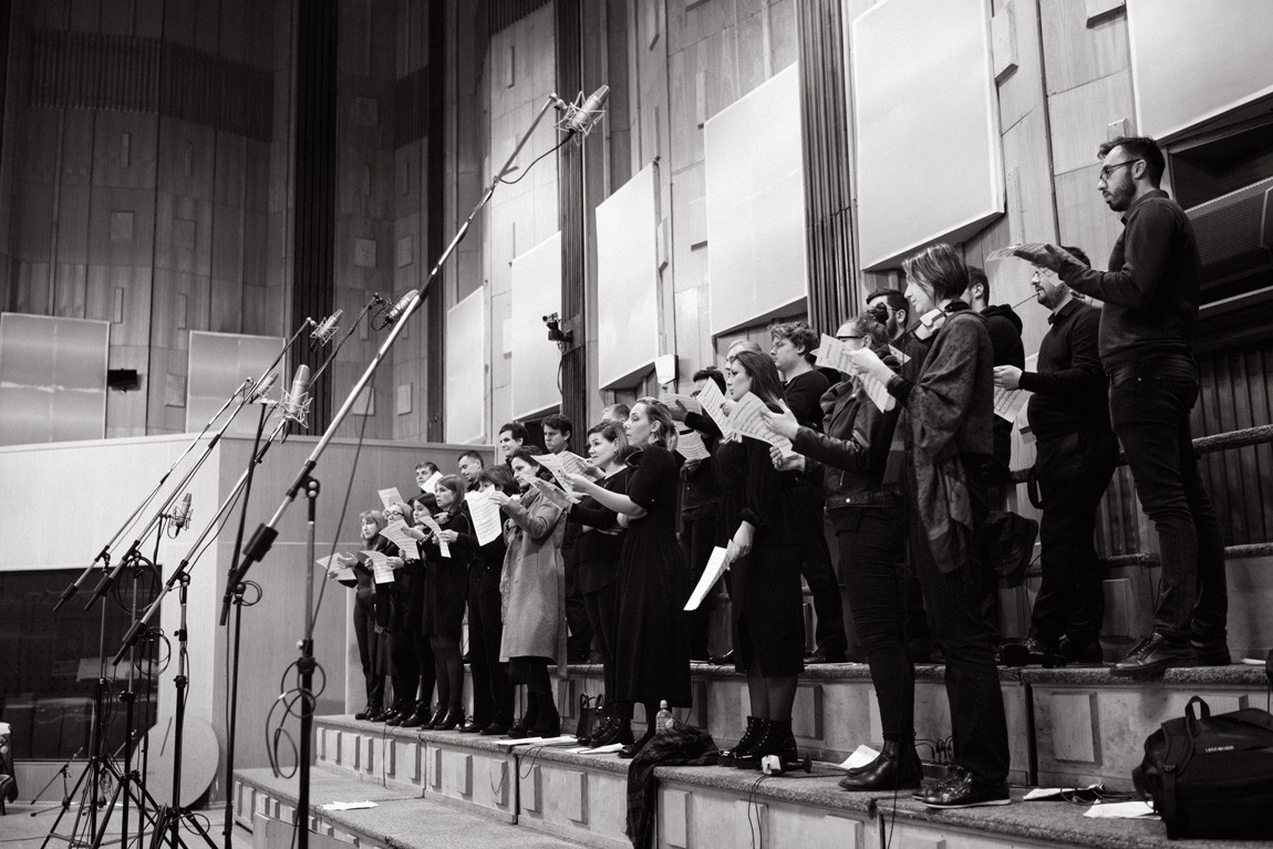 Recording the original music for The Tattooed Torah with the Bow Tie Orchestra and Choir in Moscow.