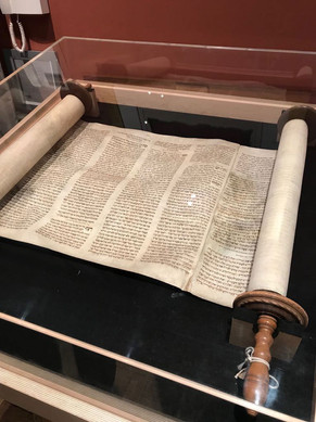 Czech scroll from the Memorial Scrolls Trust at Westminster Synagogue, London.