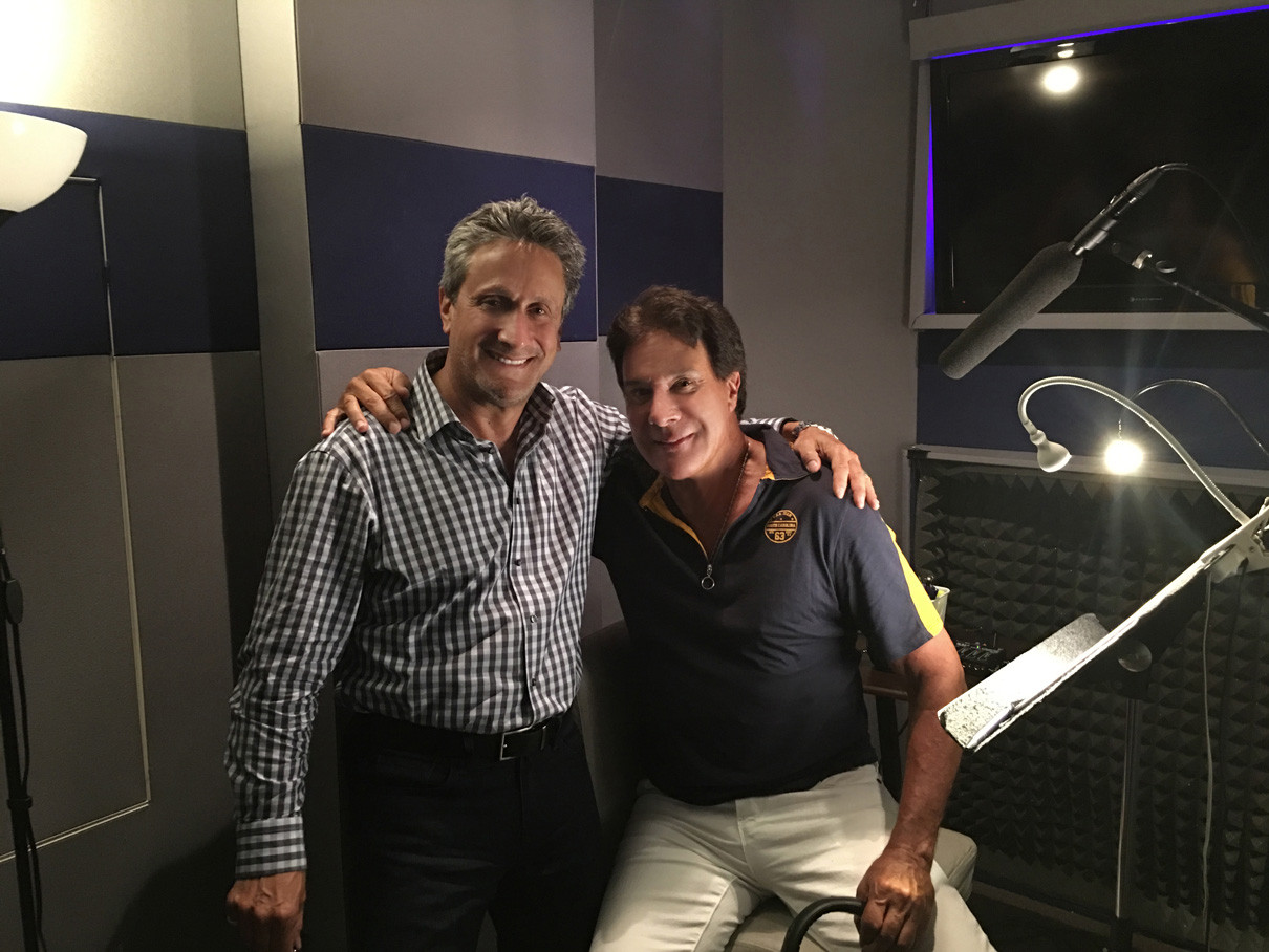 Marc Bennett (director and co-screenwriter) with Fernando Allende, narrator for Spanish version of the film.