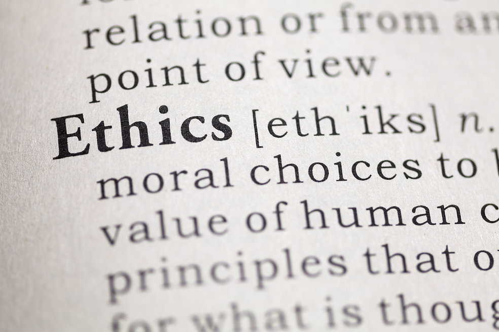 Dictionary definition of the word Ethics